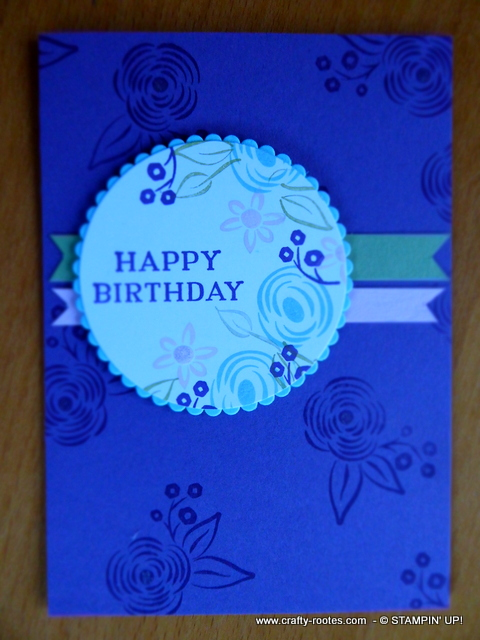 Soft colours for a birthday card
