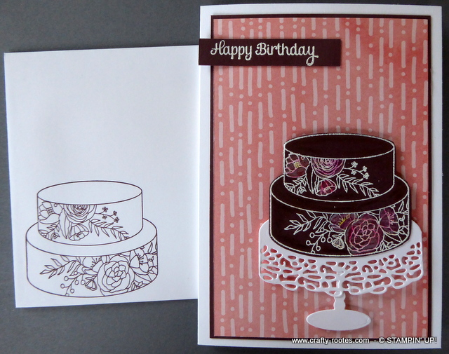 Chocolate Cake Soiree with envelope