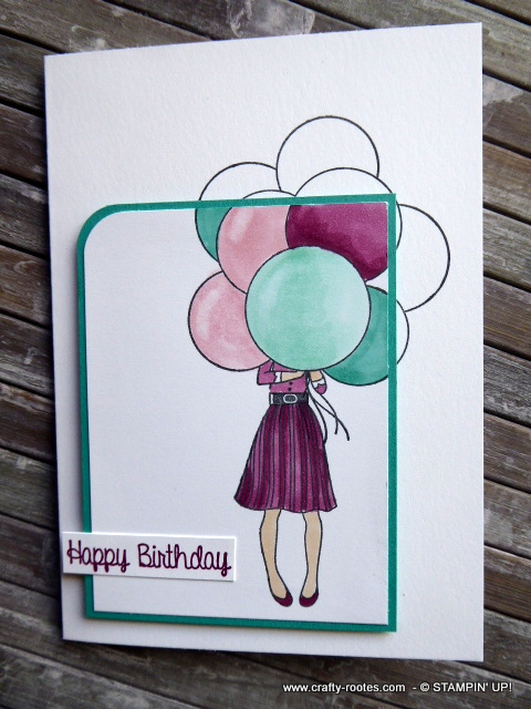 Birthday Card With Balloons Made Using Stampin Up Products