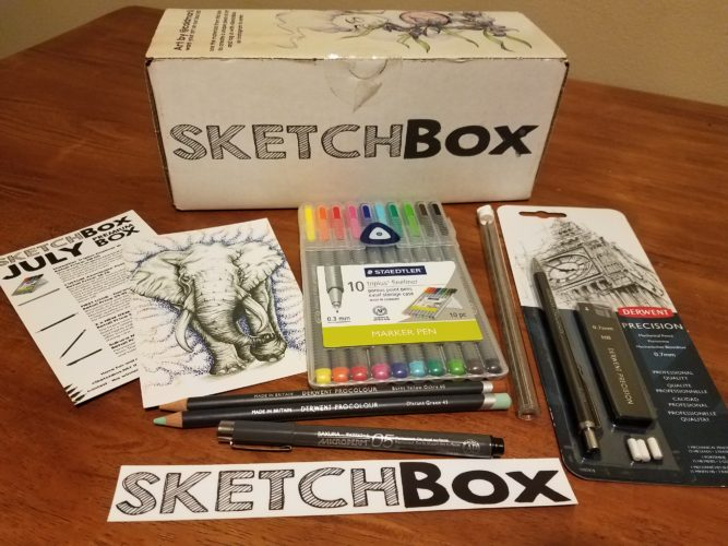 July 2017 Premium Sketchbox