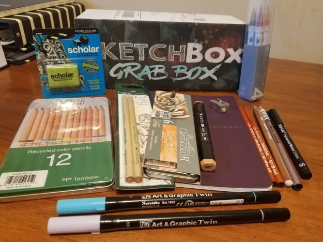 July 2017 Sketchbox Grab Box