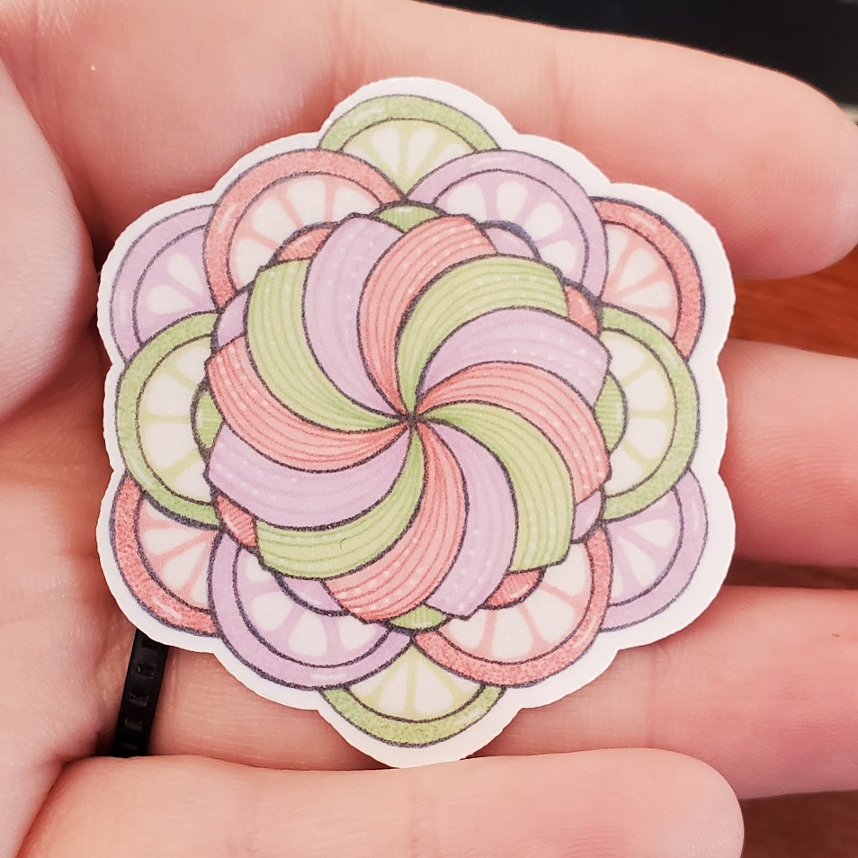 Fruit Slice Mandala Sticker
