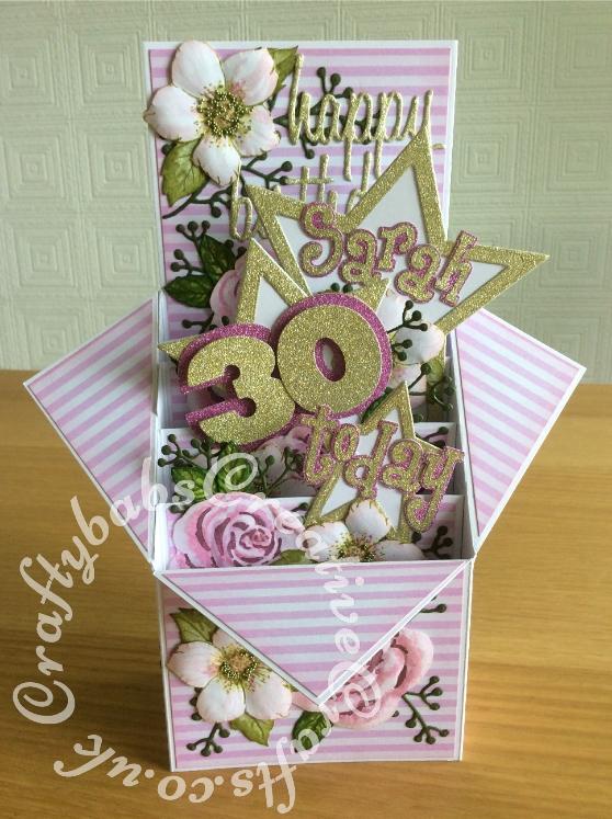 Tiered Pop Up Box 30th Birthday Card Craftybabs Creative