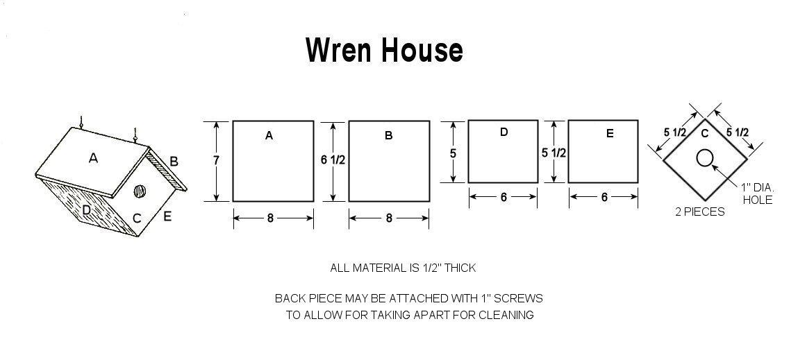 Build a Wren Bird House with Free Plans  CraftyBirdscom