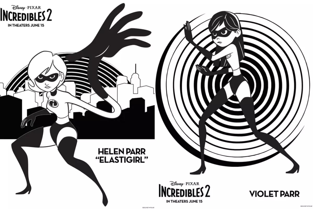 Incredibles 2 crafts, printables, recipes & coloring pages