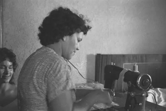 My Nana Cano at her sewing machine