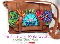 Thrift Store Makeover: Painted Purses - The Crafty Chica