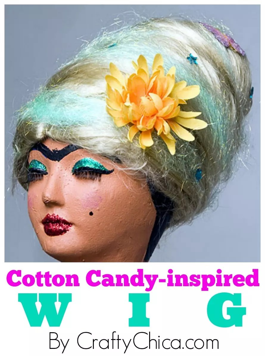 Cotton Candy Wig Diy Crafty Chica