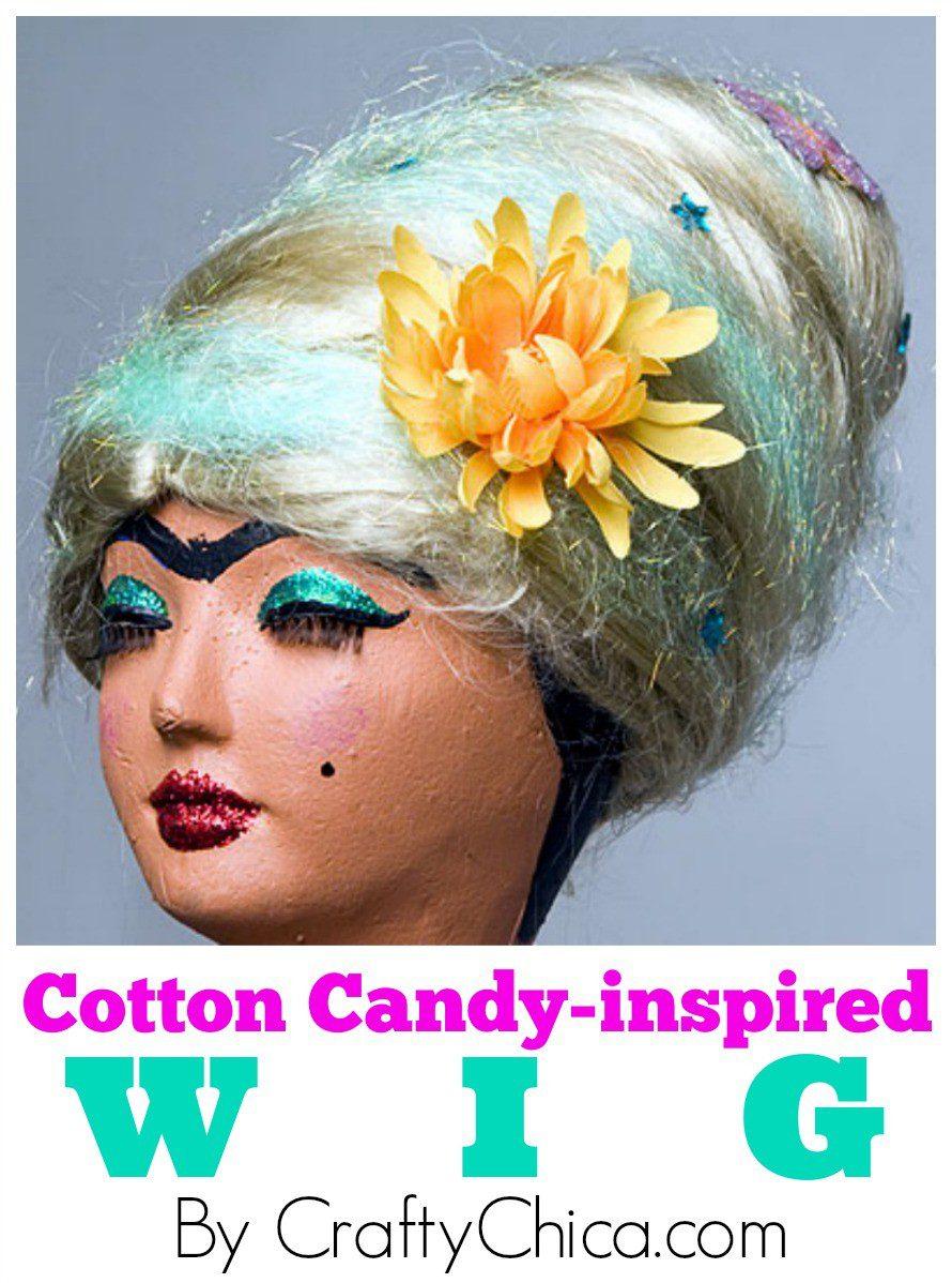 Cotton Candy Wig Diy Crafty Chica