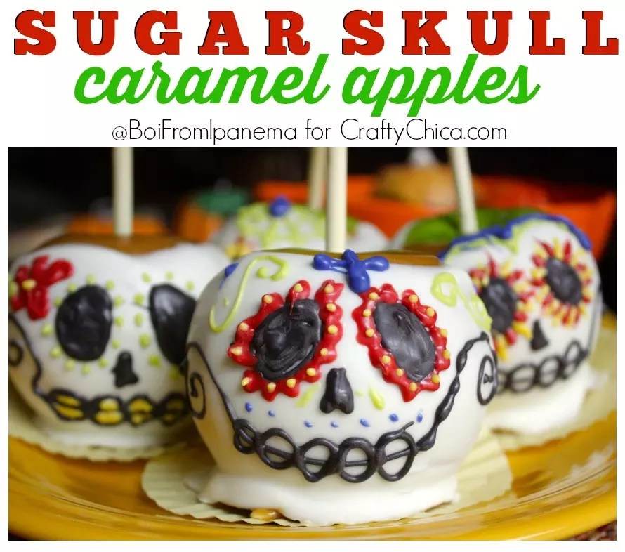 sugar-skull-caramel-apples