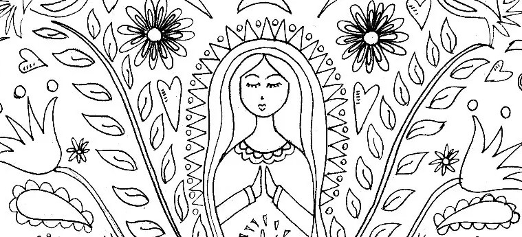 Mother Mary Coloring Page  Pattern  Crafty Chica