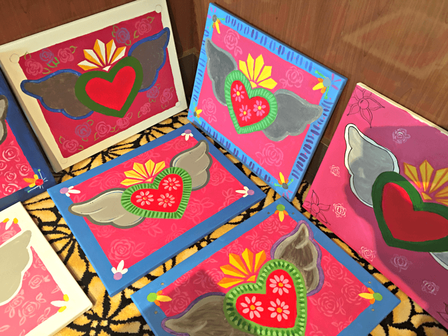 Finished Social Artworking canvases!