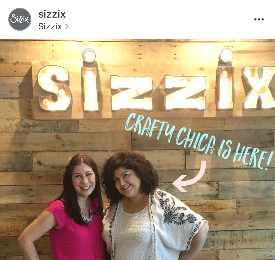 Sizzix posted this on their Facebook page!