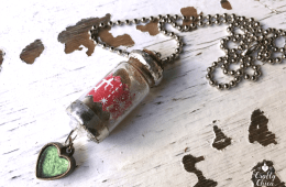 Christmas Wish Necklace by CraftyChica.com
