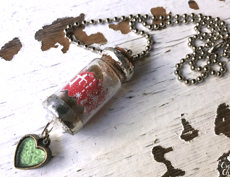 Christmas Wish Necklace by CraftyChica.com