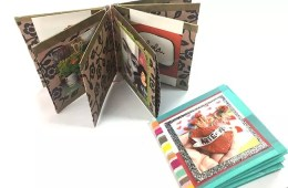 Make a book from a sheet of scrapbook paper, Crafty Chica.