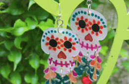 Disney Pixar Coco inspired Sugar Skull Earrings