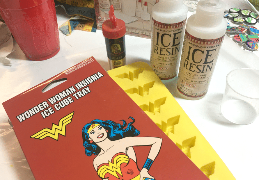 How to make Wonder Woman jewelry, by CraftyChica.com.