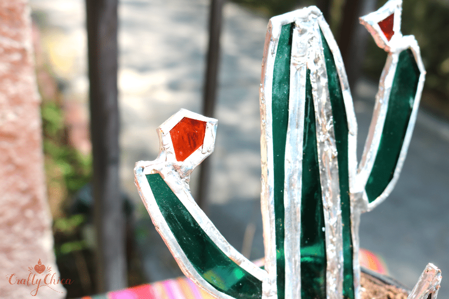 How to make a stained glass cactus by Crafty Chica.