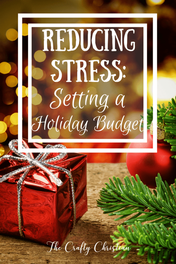 The holiday season is such a stressful time.  So much of the stress is out of our control, too, because it involves other people.  But one of the things that we can do to lessen our load is setting a holiday budget!