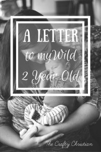 A Letter to my Wild 2 Year Old