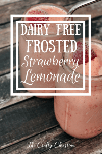 Copycat Chick Fil A Dairy Free Frosted Strawberry Lemonade {Recipe}