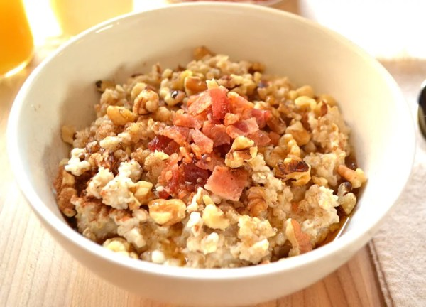 Bacon Maple Syrup Walnut Oatmeal BringYourBestBowl