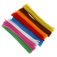 Single Colour Pipe Cleaner Pack - Beige (100) - Pipe ...
