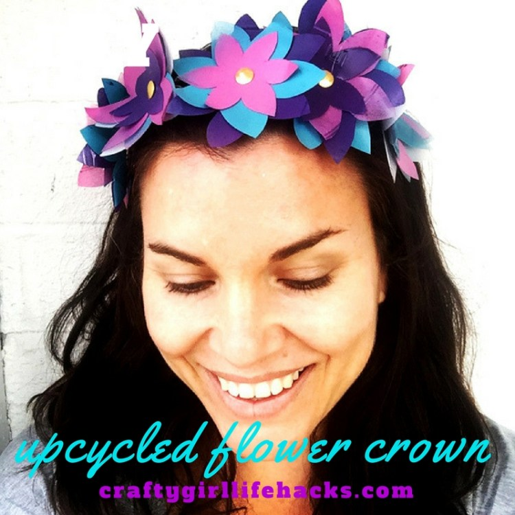 DIY Flower Crown Plastic Bottles Upcycle