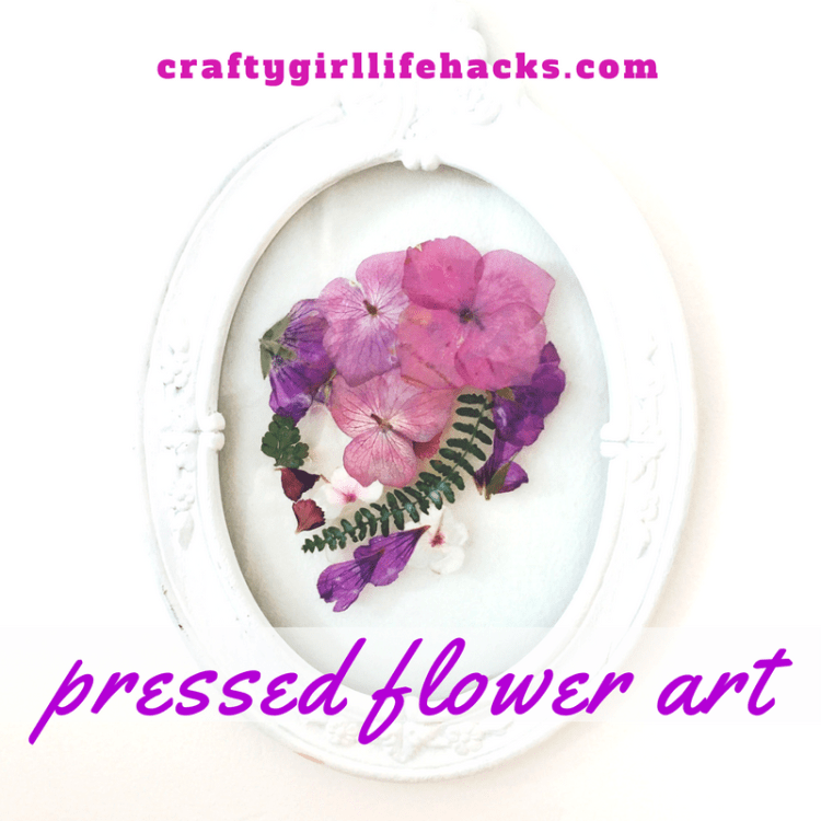Skull Pressed flower art