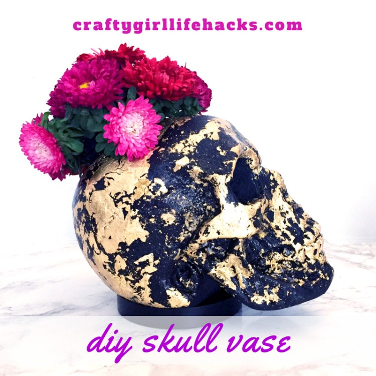 DIY Skull Vase Decoration Halloween