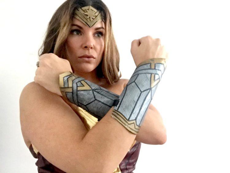 DIY Wonder Woman Bracers Headband How To