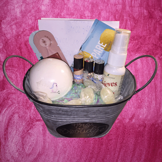Oily Gift Basket -- Visit CraftyJBird.com for more info...