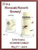 Making Memories Diamond Candles Give Away Event!  {ends June 6th}