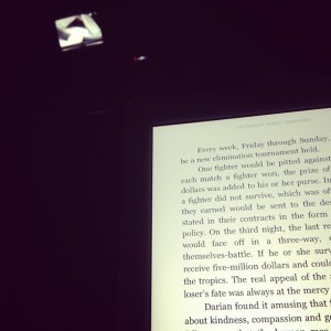 Last but not least my iPad. My ereader app takes me to new places every night. Some better than my own.