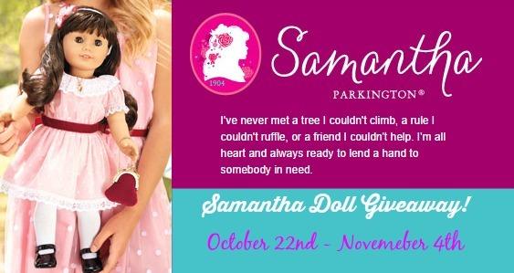 Samantha® Doll by American Girl® banner