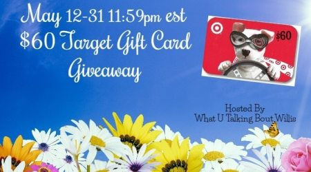 May $60 Target Gift Card #Giveaway {ends 5/31}