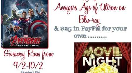 Marvel's Avenger's Age Of Ultron & $25 Paypal Movie Night #Giveaway