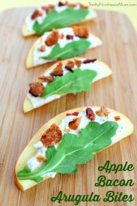 Apple Bacon Arugula Bites by Thrifty Northwest Mom
