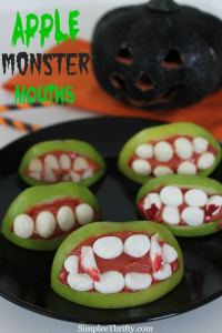 Apple Monster Mouths by Simply Thrifty