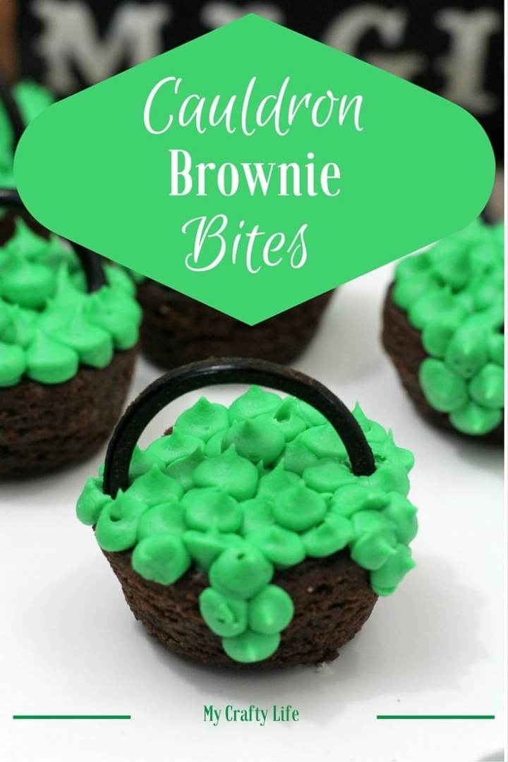 Cauldron Brownie Bites