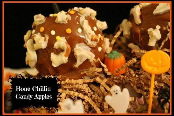 flipz party snacks - bone chillin candy apples