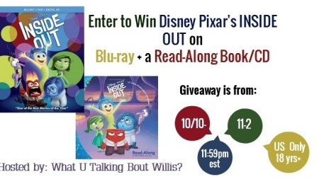 Fantastic Disney's Inside Out Giveaway! ends November 2nd, 2015