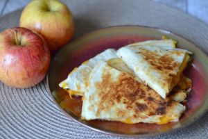 apple and cheddar quesadillas by Glue Sticks and Gum Drops