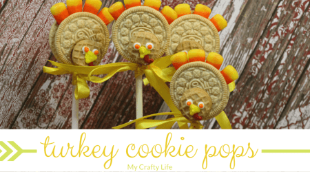 Turkey Cookie Pops Food Craft