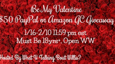 Be My Valentine $50 PayPal or Amazon GC #Giveaway (ends 2/10)