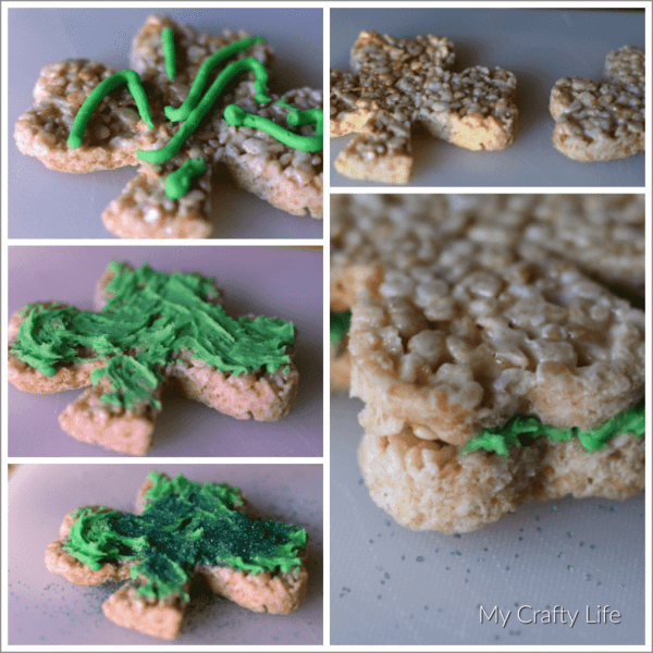 Shamrock Rice Crispies - Fun with Food. This may not be the prettiest food post I ever post on this site, but it was the most fun.