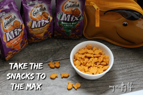 Taking the snack to the max with #MyGoldfishMix  If you are looking to shake up your snacking a little, definitely try the new flavors.