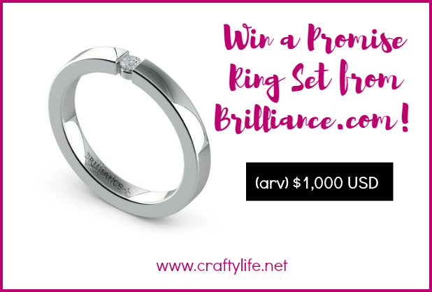 Win a Promise Ring Set from Brilliance.com! Promise rings have been around since the dawn of man. Enter to win a set worth $1,000 arv.