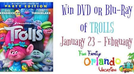 Trolls Movie Giveaway – ends 2/7/17